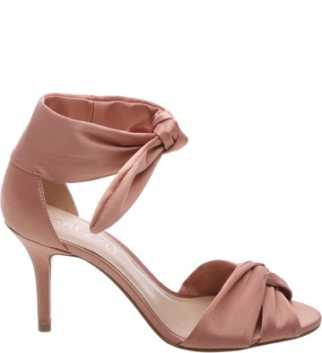 Sandália Cetim Lace Up Rose Blush