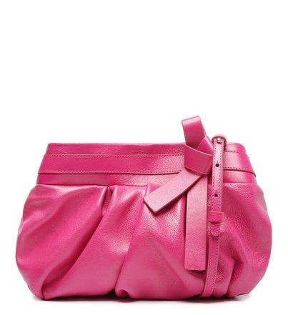Clutch Rosa Pink Couro Nina Média