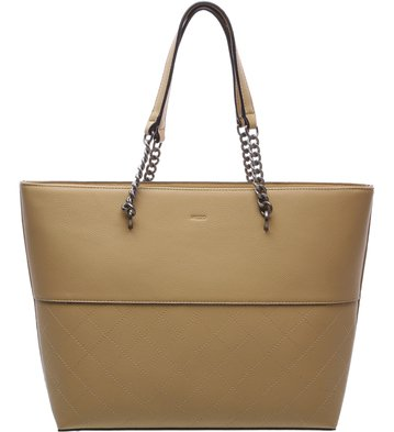 Bolsa Shopping Grande Correntes Nude Rose