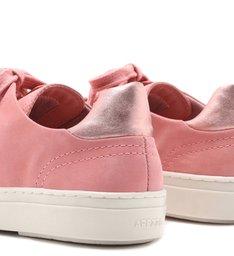 Tênis Nobuck Bico Redondo Amarração Flower Pink