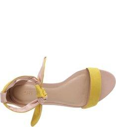 Rasteira Romantic Amarelo