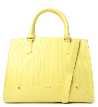 Bolsa Tote Amarela Couro Claire Grande