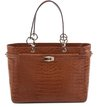 Bolsa Shopping Croco Tan
