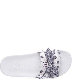 Slide Paisley Bow Branco