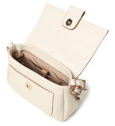 Bolsa Tiracolo Branca Couro Florença Pequena