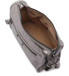 Bolsa Tiracolo Couro Adriana Pequena Old Silver
