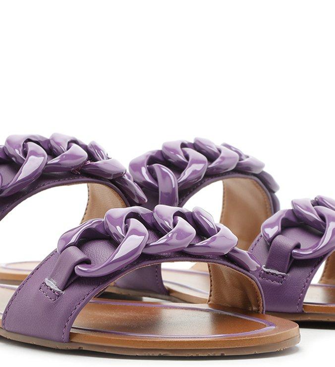 Rasteira Roxa Corrente Real Purple