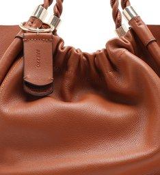 Bolsa Shopping Marrom Couro Olivia Média