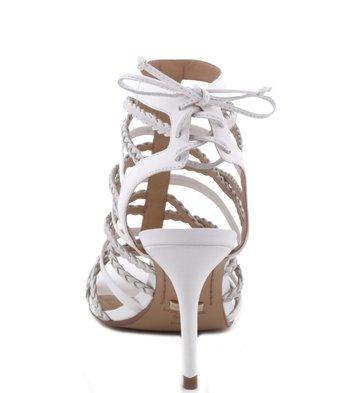 Sandália Lace Up Glam Branca