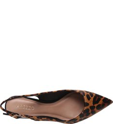 Scarpin Salto Bloco Animal Print
