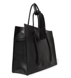 Bolsa Shopping Preta Couro Vanessa