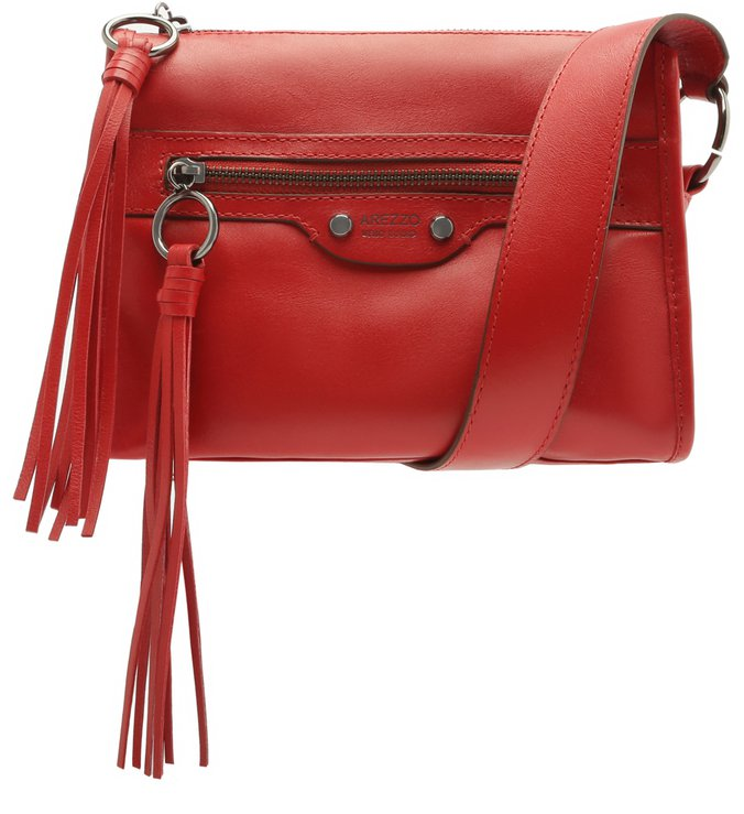 Bolsa Tiracolo Couro Adriana Pequena Lust Red