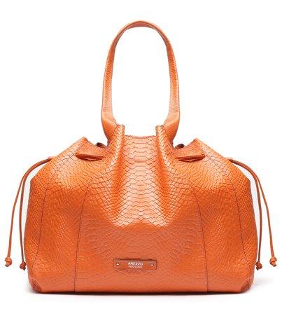 Bolsa Shopping Laranja Python Suzi Grande