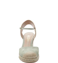 Espadrille Basic Suede Soft Mint