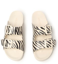 Slide Branco Animal Print Injetado Fresh