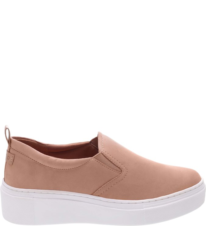 Tênis Slip On Nobuck Pale Nut e Light Toast