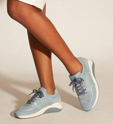 Tênis Sola Esportiva Light Jeans Plush