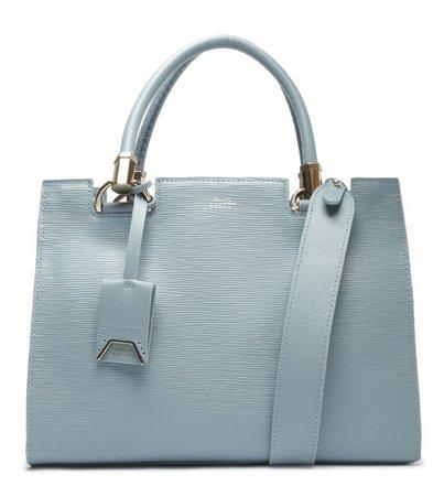 Bolsa Tote Grande Couro Azul Abbracio
