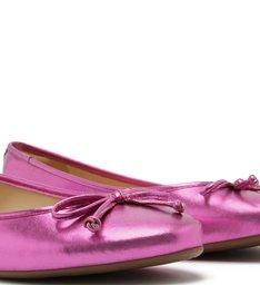 Sapatilha Metal Bico Redondo Tiny Bow Pink