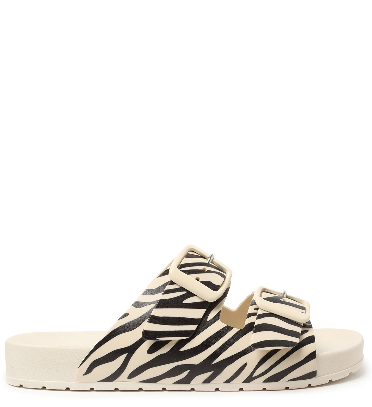 Slide Branco Animal Print Injetado Fresh | Arezzo