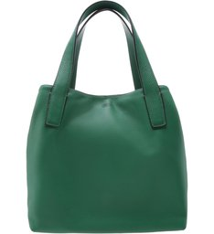 [ELE VOLTOU] Bolsa Shopping Couro Victoria Grande Lush Green