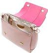Bolsa Couro Lady Satchel Giardino Rose Blush e Lady Pink