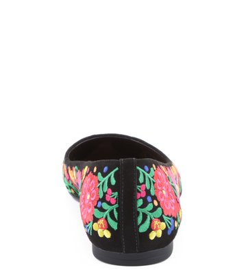 Sapatilha Floral Negro