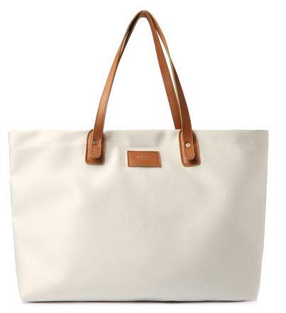 Bolsa Shopping Branca Tecido Sunny Grande