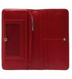 Carteira Classic Grande Textura Vermelha