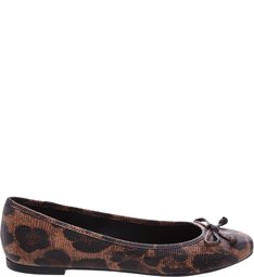 Sapatilha Animal Print Lince Natural