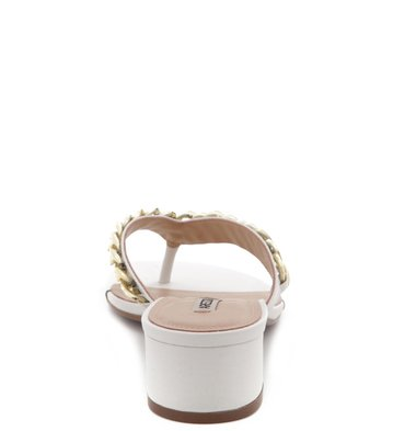 Mule Correntaria Off-White