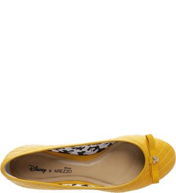 Disney x Arezzo | Sapatilha Matelassê Pop Hot Yellow