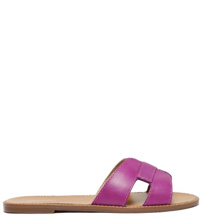 Rasteira Roxa Couro Slide Cool Grape