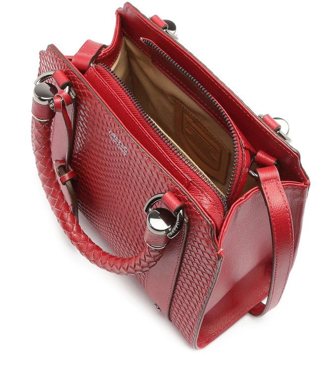Bolsa Tote Viper Skin Piazza Média Cherry Red