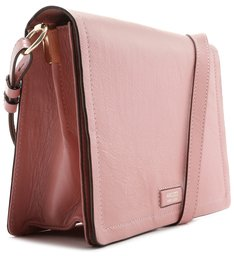 Bolsa Tiracolo Couro Joy Média Flower Pink