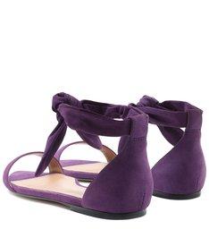 Rasteira Roxa Nobuck Fechada Amarração Real Purple