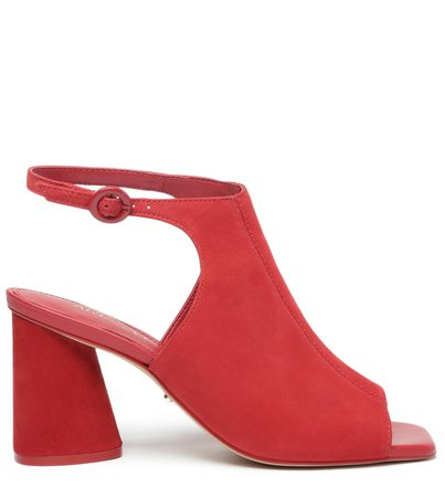 Sandal Boot Vermelha Nobuck Bloco Chiara