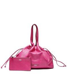 Bolsa Shopping Rosa Python Suzi Grande