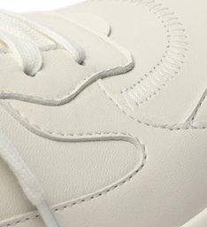 Tênis Branco Couro Amarração Esportivo