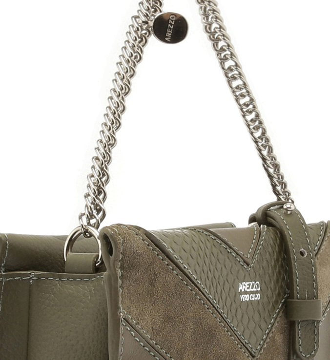 Bolsa Tiracolo Multimaterial Malu Pequena City Army