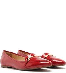Sapatilha Verniz Fivela Cherry Red