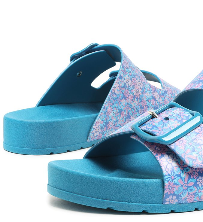 Slide Azul Floral Injetado Fresh