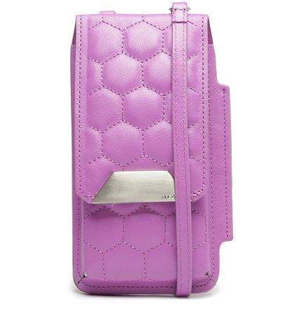 Mini Bolsa Porta-Celular Roxa Couro Bee.ZZ