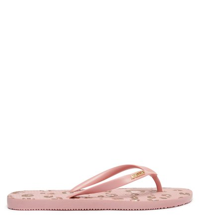 Chinelo de Dedo Animal Print Rosa Brizza