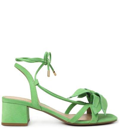 Sandália Verde Lily Nobuck Bloco