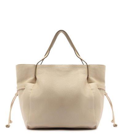 Bolsa Shopping Off-White Couro Mia Grande