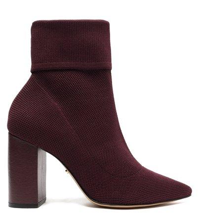 Skinny Boot Roxa Knit Cano Curto Bico Fino
