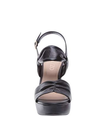 Sandália Plataforma Couro Soft Preta