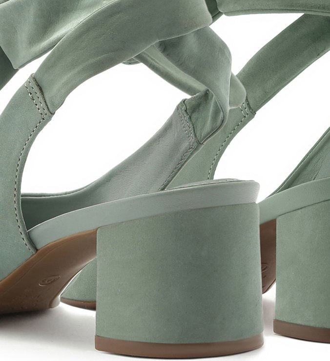 Scarpin Nobuck Slingback Lace Up Acqua Mint