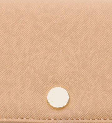 Carteira Pequena Textura Nude